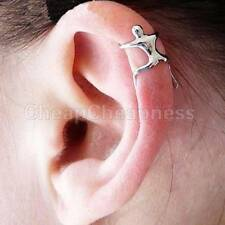 2x Climbing Man Naked Climber Ear Cuff Clip Upper Helix Cartilage Earring Hot 5t