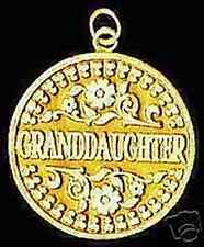 LOOK Gold Plated Solid Granddaughter 2-Sided Pendant charm
