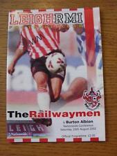 24/08/2002 Leigh RMI v Burton Albion  (Team Changes)