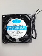 BP8025M110 FAN 110V AC 80mm 25mm 0.15A 115V 120V 2500 RPM 17 CFM wire FS 1pc