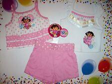 Dora the Explorer Infant Baby Girls 3pc Short Set Size 12 Mos Polka Dot NWT