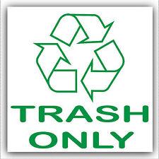 Cestino solo-Cestino, i rifiuti possono Barrel Adesivo-stampato con il logo del riciclaggio segno