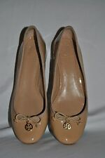TORY BURCH Chelsea PATENT Leather CHARM Pump CAMELLIA Pink NUDE Sz 6.5 $225