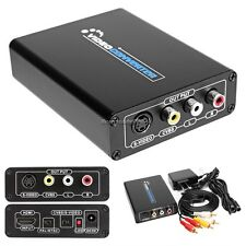 HDMI To 3RCA AV CVBS Composite S-Video R/L Audio Video Converter Adapter NC89