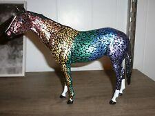 Custom Breyer CM Thoroughbred model rainbow decorator fantasy secretariat