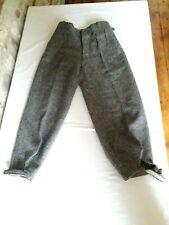 Ancien pantalon tweed homme sportswear neuf 1930 40 T36 Old tweed pant sz S