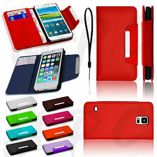 Luxury Magnetic Leather Flip Protective Wallet Book Case Cover For Mobile Phones
