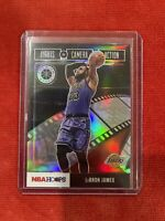 2019-20 NBA Hoops Premium Stock Lebron James Lights Camera Action Silver PRIZM