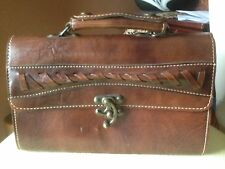 vintage Leather Hand Bag/Purse Brown Color Beautiful With Lock Closure