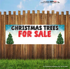 CHRISTMAS TREES FOR SALE PVC BANNERS HEAVY OUTDOOR PRINTED BUSINESS SIGN VINYL