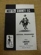 11/11/1970 Notts County v Lincoln City  (Faint Marks)