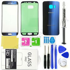 Samsung Galaxy S6 Edge G925 Blue Front & Back Glass Lens Screen Replacement Kit