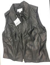 NEW Women leather Annex biker motorcycle black large FREE SHIPPING