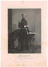 John E. Wool 1863 Steel Engraving Print Major General Union Army Civil War