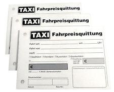 1x TAXI-Fahrpreis-Quittung 2x50 Blatt A6 - SD - TAXIQUITTUNG gelocht (22428)