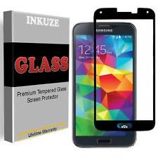 INKUZE Tempered Glass [FULL COVER] Screen Protector Guard For Samsung Galaxy S5