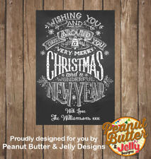 Personalised  Christmas Wine Bottle Sticker Labels (LABELS ONLY) 8 Per Page