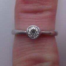 Stunning 18ct White Gold 0.27 Carat Diamond Solitaire Ring Size K 1/2