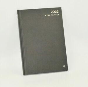 1x A4 Hardback 2022 Diary Week To View Work Organiser Office Diary Planner Pad