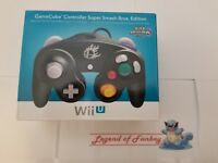 New Official Nintendo Black GameCube Controller Wii U Super Smash Bros. Edition
