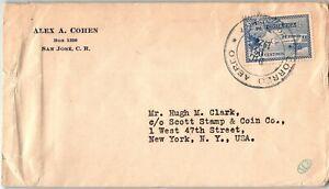 Costa Rica Postal History: LOT #2 1928 20c Single Franking Air SAN JOSE - NYC $$