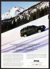 1996 JEEP Grand Cherokee Limited Vintage Original Print AD Black photo mountain