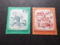 AUTRICHE - 1976, timbres 1348/1349, PAYSAGES, neufs**