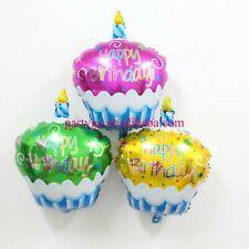 Happy Birthday cupcake foil balloon pink gold green disney