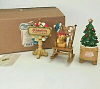 Cherished Teddies Old Fashioned Country Christmas Accessories 533823 3 Piece Set
