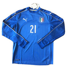 2016/17 Italy Home Jersey #21 Pirlo Medium Long Sleeve Puma NEW