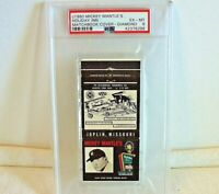 1960 Mickey Mantle Holiday Inn Matchbook Cover Diamond PSA 6 EX-MT