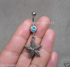 2ps Starfish Belly Button Rings Starfish Navel jewelry starfish body Jewelry