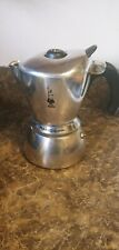 Bialetti Mukka Express Stovetop Cappuccino Maker Silver 2 cups with Frother