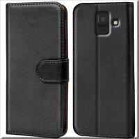 Handy Hülle Samsung Galaxy J6 2018 Cover Schutz Tasche Slim Flip Case Bookcase