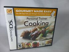 Nintendo DS Personal Trainer Cooking Video Game Gourmet Made Easy Tasty Recipes
