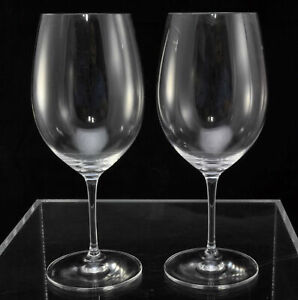 Pair of Riedel Vinum 9 Inch Red Cabernet Wine Glasses