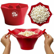 Microwave Silicone Magic Household Popcorn Maker Container Healthy Cooking 1X EN