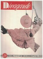 Divagando Magazine August 25 1943 Jean Harlow Playing Cards