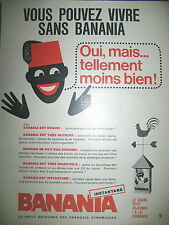 PUBLICITE DE PRESSE BANANIA CACAO EN POUDRE PETIT DEJEUNER FRENCH AD 1965