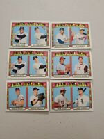 2021 TOPPS HERITAGE THEN AND NOW INSERT LOT (6)