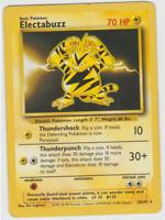 Pokemon Card Unlimited Edition Rare Non Holo Base Set 1999 Electabuzz 20/102