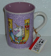 Mary Engelbreit Mug Cup Letter U New With Tag Vtg 2003 Unicorn Initial 4""