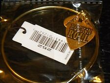 Bella Ryann Expandable Bracelet Rock N Roll Charm Gold Colored       *