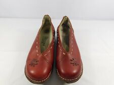 El Naturalista Women's Clogs Red Burgundy Leather Size 38 US 8M Slip On Shoes
