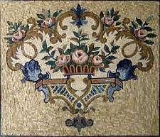 "46""Handmade Colorful Floral Kitchen Backsplash Home Marble Mosaic Art Stone Tile"