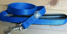 "Top Paw Showdog BLUE Leash NEW! 60"" x 5/8 Comfort padded handle Chrome hook,"
