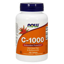 NOW FOODS Vitamin C-1000 with Rose Hips 100 tablets - VITAMINE