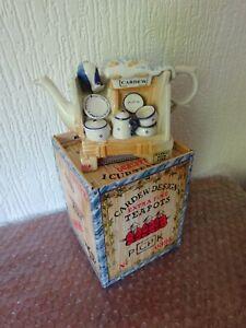 CARDEW - DESIGN QUALITY - CHINA STALL - One Cup Decorative Teapot - ORIGINAL BOX