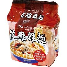 TAIWAN's FOOD TTL HIGH-GRADE SHAOXING WINE CHICKEN INSTANT NOODLE 200g/pack 台酒花雕