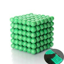 NEW DIY 216 5mm Glow In Dark Metal Magnetic Neodymium Cube Ball Fluorescence